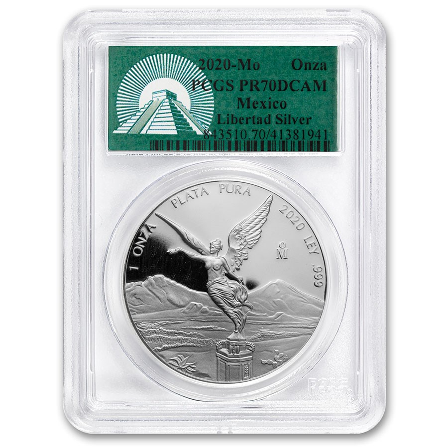 2020 Mexico 1 oz Silver Libertad PR-70 PCGS (Green Label)