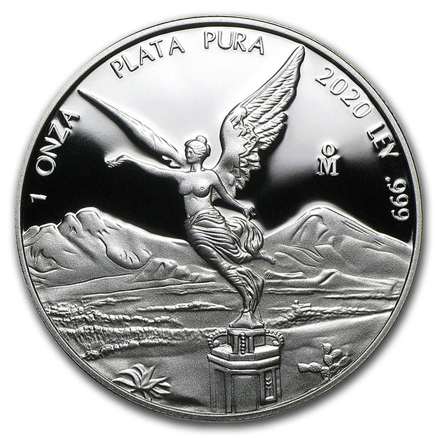 2020 Mexico 1 oz Silver Libertad Proof (In Capsule)