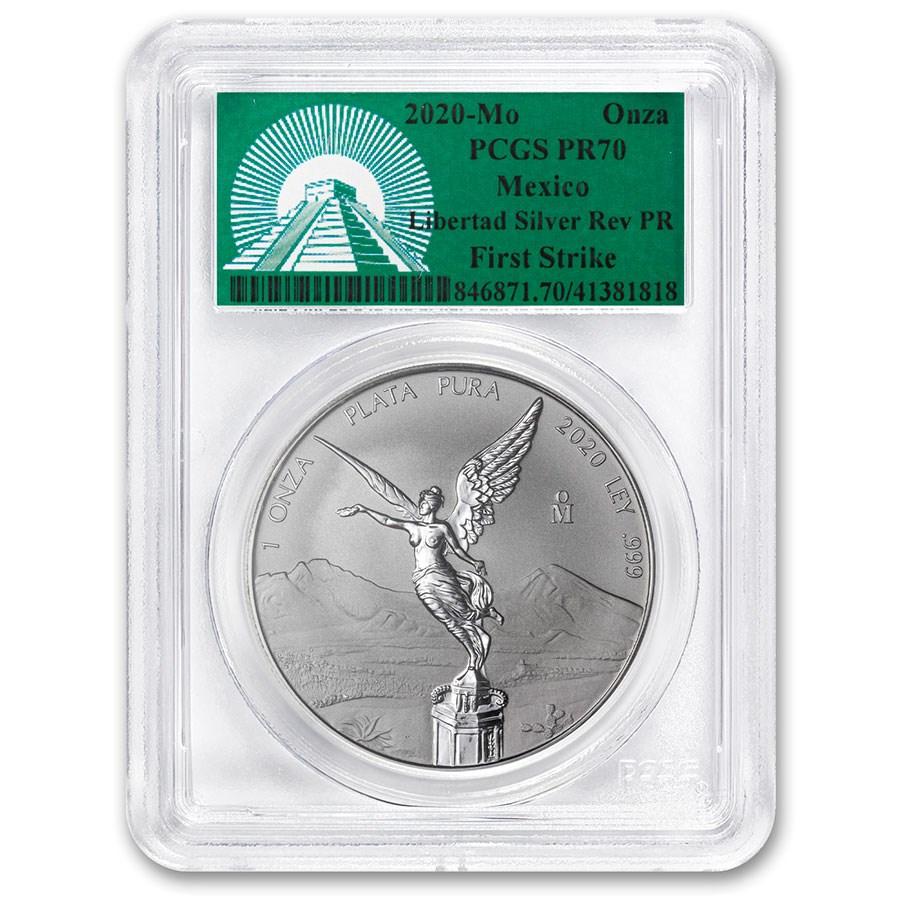 2020 Mexico 1 oz Silver Libertad Reverse Proof PR-70 PCGS (FS)
