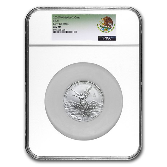 2020 Mexico 2 oz Silver Libertad MS-70 NGC (Early Release)