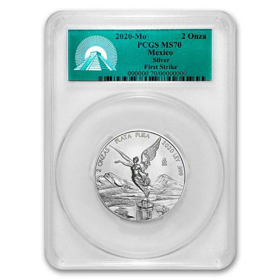 2020 Mexico 2 oz Silver Libertad MS-70 PCGS (FirstStrike®)