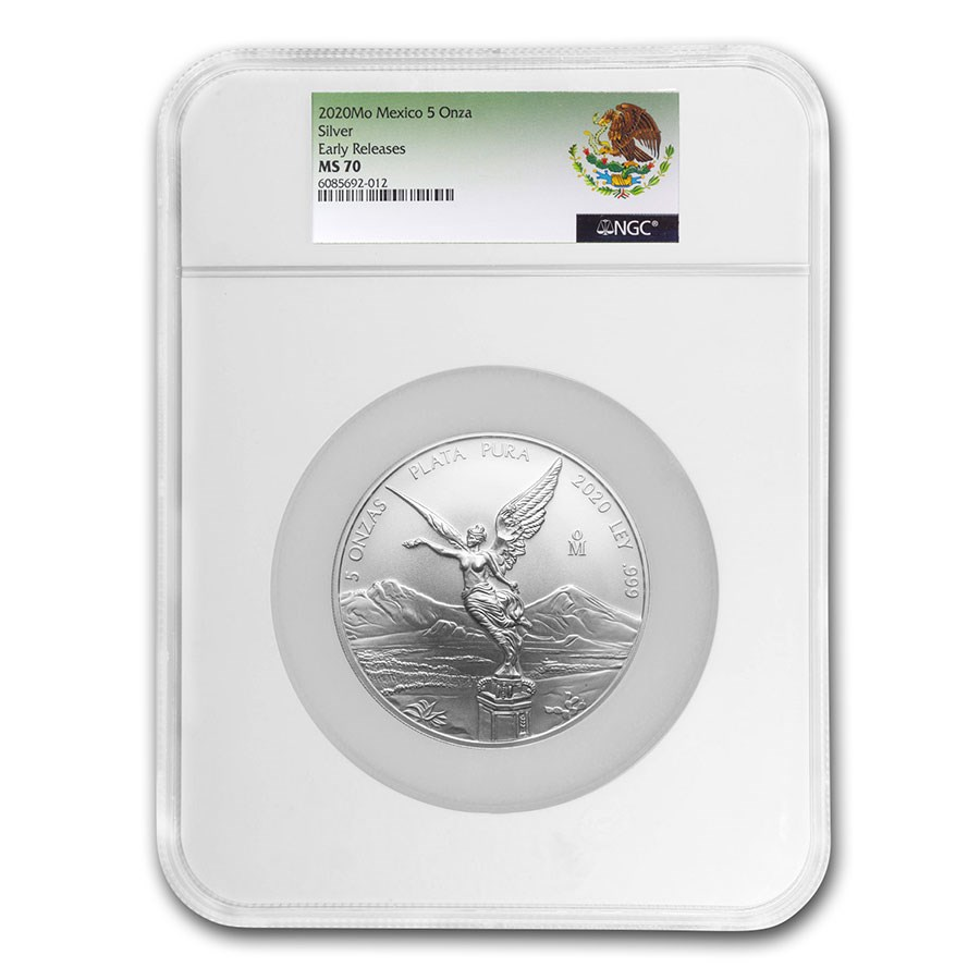 2020 Mexico 5 oz Silver Libertad MS-70 NGC (Early Release)