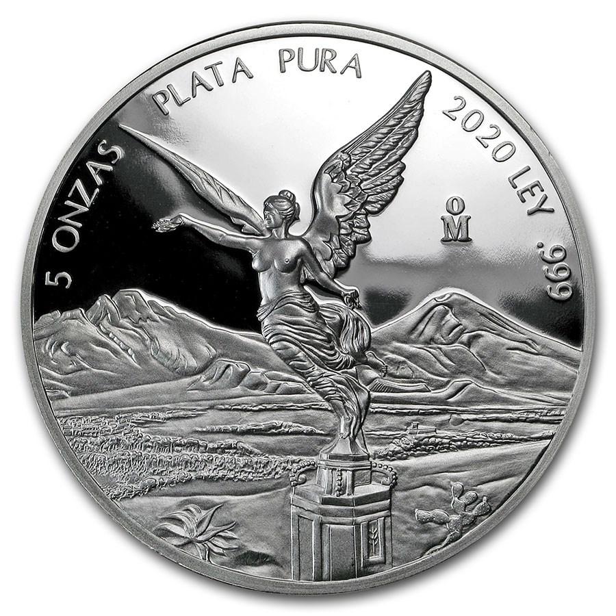 2020 Mexico 5 oz Silver Libertad Proof (In Capsule)