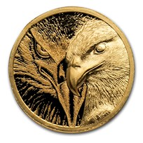 2020 Mongolia 1/10 oz Gold Proof Majestic Eagle