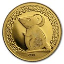 2020 Mongolia 1/2 gram Proof Gold Lunar Year of the Mouse