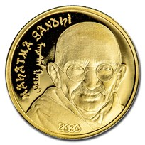 2020 Mongolia 1/2 gram Proof Gold Revolutionaries: Mahatma Gandhi