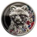 2020 Mongolia 1 oz Silver Woodland Spirits (Raccoon Dog)