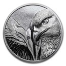 2020 Mongolia 2 oz Silver Proof Majestic Eagle
