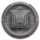2020 Mongolia 3 oz Antique Silver Vasudhara Mandala