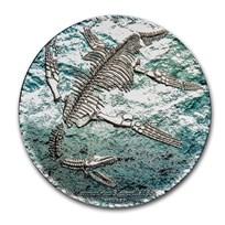 2020 Mongolia 3 oz Silver Prehistoric Beasts Plesiosauria