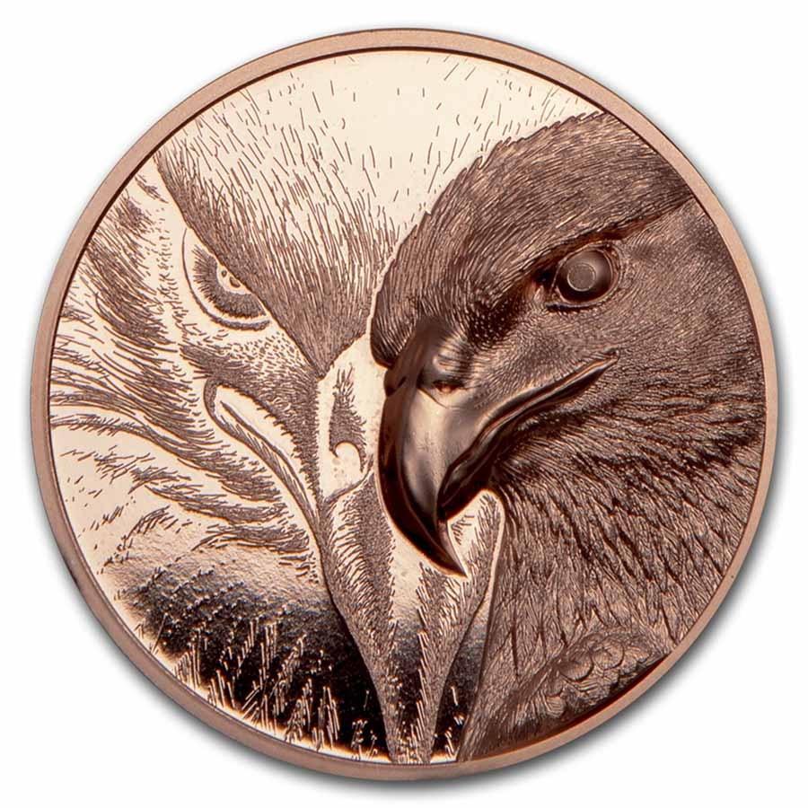 2020 Mongolia 50 gram Copper Proof Majestic Eagle