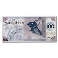 2020 Mongolia Lunar Year of the Mouse Silver Note