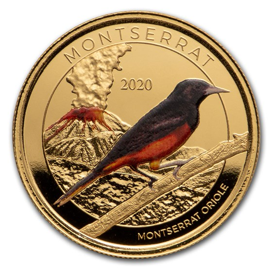 2020 Montserrat 1 oz Gold Oriole (Colorized)
