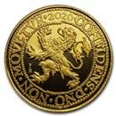 2020 Netherlands 1 oz Gold Proof Lion Dollar (w/Delft Box)