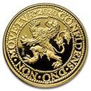 2020 Netherlands 2 oz Gold PF Lion Dollar: Tulip Privy, Delft Box
