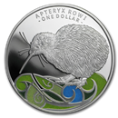 2020 New Zealand 1 oz Silver Kiwi Proof Color (w/Box & COA)