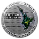 2020 New Zealand 2-Coin Silver Proof Te Riu-a-Maui Zealandia Set