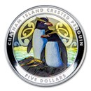 2020 New Zealand 2 oz Silver Penguin Proof Color (w/Box & COA)
