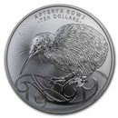 2020 New Zealand 5 oz Silver Rowi Kiwi Black-Nickel Proof