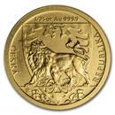 2020 Niue 1/25 oz Gold Czech Lion BU