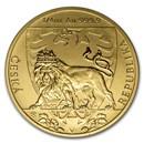 2020 Niue 1/4 oz Gold Czech Lion BU