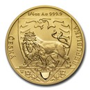 2020 Niue 1/4 oz Gold Czech Lion Proof