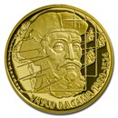 2020 Niue 1/4 oz Gold Proof On Waves: Vasco da Gama