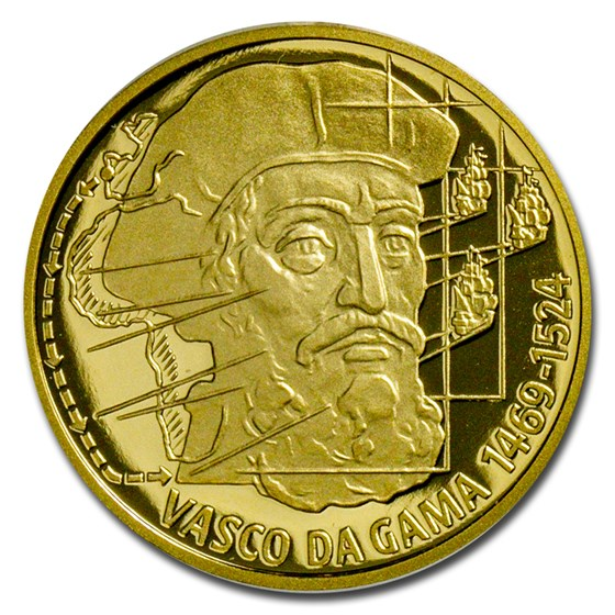 2020 Niue 1/4 oz Gold Proof On Waves: Vasco da Gama