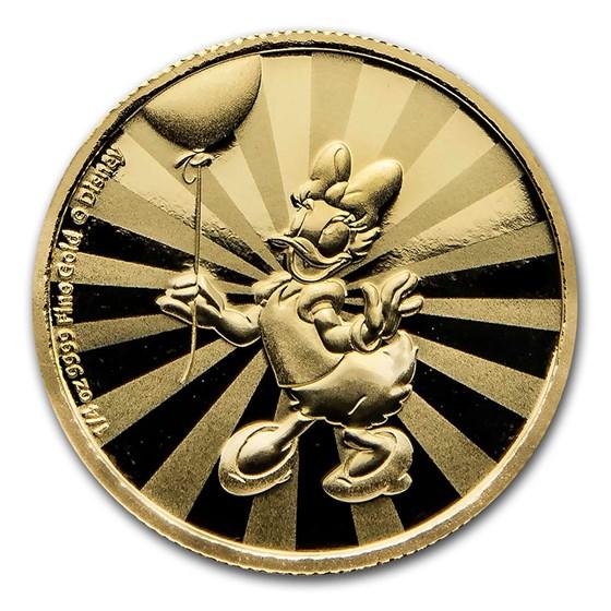 2020 Niue 1/4 oz Proof Gold $25 Disney: Daisy Duck