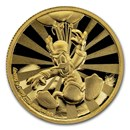 2020 Niue 1/4 oz Proof Gold $25 Disney: Donald Duck