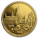 2020 Niue 1/4 oz Proof Gold - Hogwarts Castle