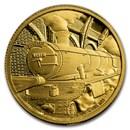 2020 Niue 1/4 oz Proof Gold - Hogwarts Express