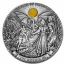 2020 Niue 1 kilo Antique Silver The Witcher: Sword of Destiny