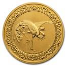 2020 Niue 1 oz Gold $250 Celestial Animals Phoenix (w/Box & COA)