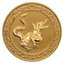 2020 Niue 1 oz Gold $250 Celestial Animals Snake (w/Box & COA)