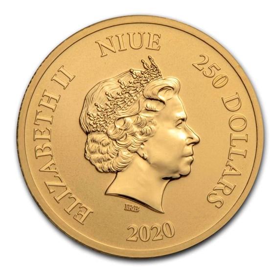 2020 Niue 1 oz Gold $250 Disney Lion King The Circle of Life BU