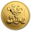 2020 Niue 1 oz Gold $250 Disney Mickey & Pluto BU