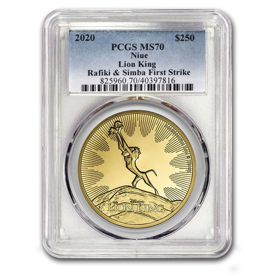 2020 Niue 1 oz Gold $250 Lion King Circle of Life MS-70 PCGS (FS)