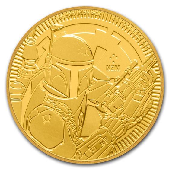 2020 Niue 1 oz Gold $250 Star Wars: Boba Fett BU