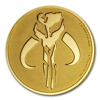 2020 Niue 1 oz Gold $250 Star Wars: Mandalorian Mythosaur BU