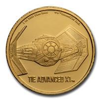 2020 Niue 1 oz Gold $250 Star Wars TIE Advanced X1