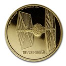 2020 Niue 1 oz Gold $250 Star Wars TIE/LN Fighter