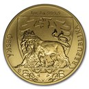 2020 Niue 1 oz Gold Czech Lion BU