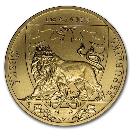 2020 Niue 1 oz Gold Czech Lion BU