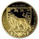 2020 Niue 1 oz Gold Czech Lion Reverse Proof