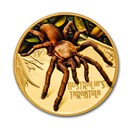 2020 Niue 1 oz Pf Gold Eastern Tarantula Deadly & Dangerous