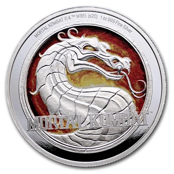 2020 Niue 1 oz Proof Silver $2: Mortal Kombat