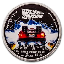 2020 Niue 1 oz Silver $2 Back to the Future 35 Anniversary Proof