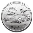 2020 Niue 1 oz Silver $2 Back to the Future 35th Anniversary BU