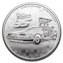 2020 Niue 1 oz Silver $2 Back to the Future 35th Anniversary BU